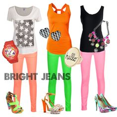 """bright jeans"" by julie-price-thiede on Polyvore"