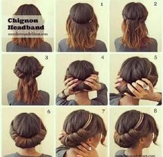The perfect solution to a bad hair day: a cute and easy updo! #diy #RefreshVeronica #refreshsalon #cute #hair #headband