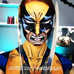 Clearly, feeling EXTREMELY inspired by my trip to @universalorlando! One of the coolest sections of the park is their #marvel @marvel comic area, with a HUGE #wolverine sign. Thus, #wolverine inspired makeup was born!! A tutorial on how to turn yourself into wolverine will be up tonight on @youtube.com/MadeYewLook! Super heroes were the first thing I ever started out with when body painting, pretending to be a hero as a kid.