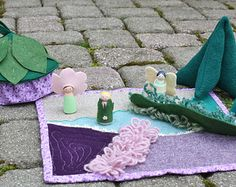 Fairy Play Mat. About 19 by 26. Fairy Garden. Fairy by Maycasews