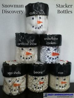 Snowman Stacker Discovery Bottles