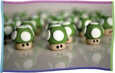 Super Mario 1 up mushrooms - ☆ Danila  #polymerclay #supermario