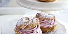 Raspberry Cream Puffs