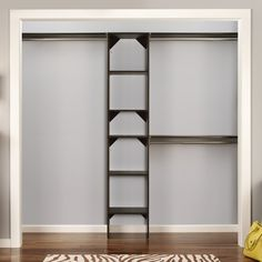SuiteSymphony W - W Closet System with Top Shelves Stackable Shelves, Adjustable Shelving, Closet Rod, Closet Doors, Foster House, Reach In Closet, Hanging Closet, Home Storage Solutions, Ikea Pax