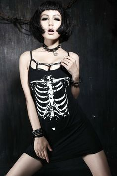 Dead Can Dance dress Punk Outfits, Gothic Outfits, Dance Outfits, Dance Dresses, Dead Can Dance, Dark Fashion, Gothic Fashion, Black Gothic Dress, Skeleton Dress