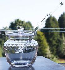 Antique Gl Preserve Pot Jar Honey Jam Marmalade With Spoon
