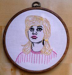 Embroidered portrait - multi color