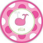$27.95 Personalized Pink Whale Plate