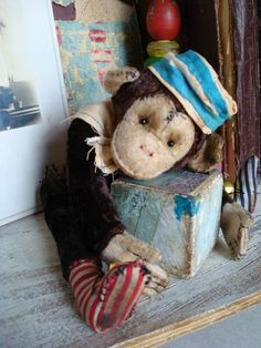 Monkey antique vintage style by By marina kuznetsova | Bear Pile