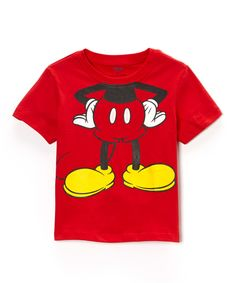 Look at this #zulilyfind! Red Mickey Body Tee - Toddler & Boys by Mickey Mouse #zulilyfinds