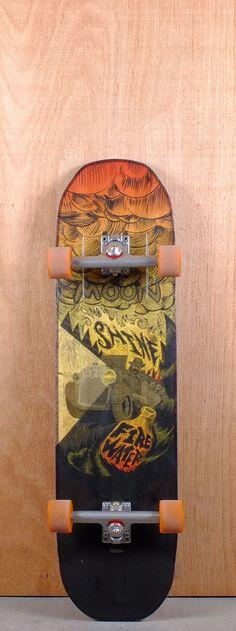 "Moonshine 36"" Firewater Longboard Complete"