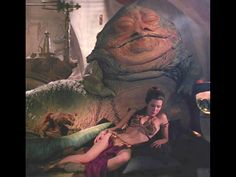The Empire Strikes Back - Princess Leia and Jabba the Hutt - famous scene from Star Wars saga