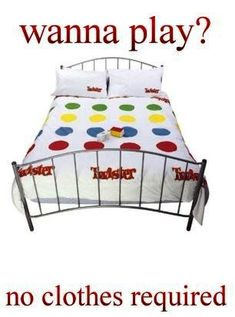 Fridge Magnet Twister Game Bedding Bed Linen Play No Clothes Required Funny & Garden Twister Game, Bedroom Games, Bedroom Ideas, Romantic Anniversary, Anniversary Ideas, Wedding Anniversary, Flirty Quotes, Funny Toys, Dating Divas