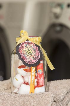 LOTS of cute gift-in-a-jar ideas!!  So Shelli Blog - Jars, Tags, and Labels . . . Oh, My!