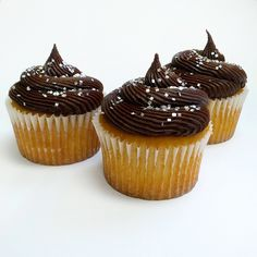 Chocolate buttercream icing... so delicious! Great on cakes and cupcakes!