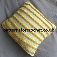 Cushion cover free crochet pattern from http://www.patternsforcrochet.co.uk/cushion-cover-usa.html #patternsforcrochet