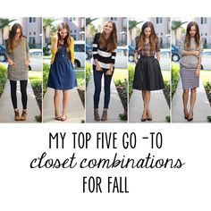 My Top 5 Go-To Outfits for Fall