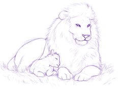 The Lamb and the Lion sketch by *MelvisMD on deviantART