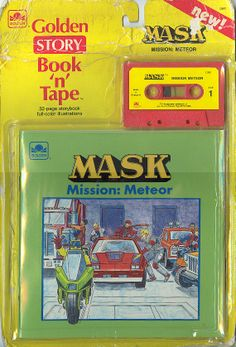 "M.A.S.K. Book 'n' Tape story ""Mission: Meteor"" via Discogs.com 1980s Tv, Cover Art, Tapas, Nostalgia, Fan Art, Illustration, Books, Kids, Channel"