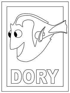 Free Disney Coloring Pages | Color Dory page, Nemo coloring pages | Disney Coloring Pages