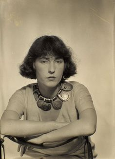 Louisa Calder, Paris 1931 -by Man Ray [one of the Alexander Calder pieces]