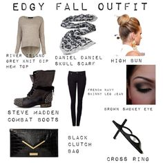 """Edgy Fall Outfit"" by ambbeerrxx on Polyvore"