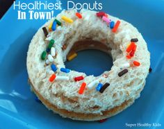 The Healthiest Donut Shop In Town | Recipes - Grand daughter would LOVE this! ESPECIALLY Sprinkles on Top!