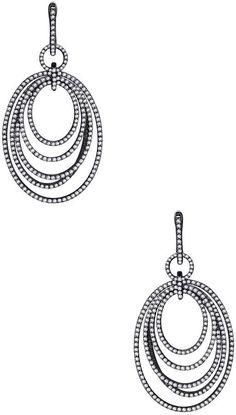 Lafonn Women's Oval Link Chandelier Earrings with Simulated Diamonds