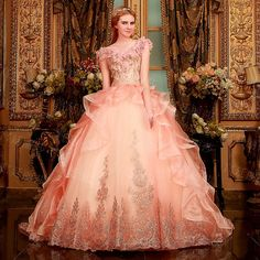 2015 New Flower V-neck Wedding dresses tulle lace up bridal gown luxurious lace beads sexy wedding gown customized chapel train