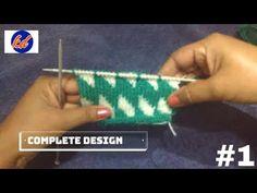 Beautiful Double Colour Knitting Pattern - YouTube