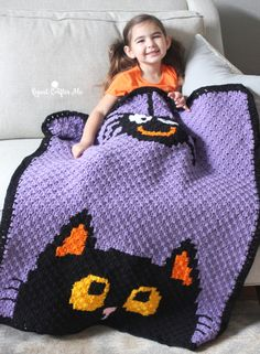 I'm back with another holiday corner-to-corner crochet blanket! This time it has a Halloween theme! How cute is this little black kitty peaking up from the bottom of the blanket?! And then an adorable spider comes down from the top to say hello! Halloween doesn't need to be scary or creepy. I just love making …