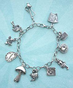 Alice In Wonderland Inspired Charm Bracelet on Luulla
