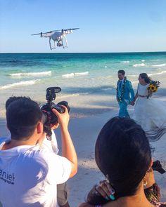 Shahr & Peter Wedding #WhatWouldBridesDo #wedproduction #weddingday #tulum #cancunwedding #weddingphotographer #love #picoftheday #drone #wedding #photographer #videographer #cinematographer #makingof #cancun #bride #beach #WhatWouldBridesDo