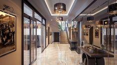 Дизайн коттеджа 72, 255 кв.метров - проекты от студии интерьеров АвКубе. Портфолио лучших загородных домов в стиле современный эклектика Divider, Cottage, Room, Furniture, Design, Home Decor, Bedroom, Decoration Home, Room Decor