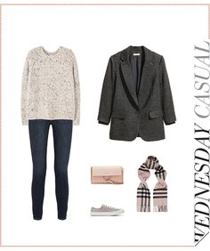 A dark gray woven long jacket from H&M . See how you can coordinate your wardrobe in 5 different ways, with 1 item, under $100.