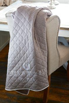 Borghese Monogram Quilt 130x180 - Rivièra Maison - Summer Collection - Textiel / Textile