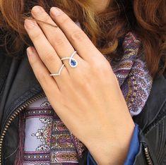 Chevron diamond ring from @sillyshiny. #jewelry #chevron #fashion #ring