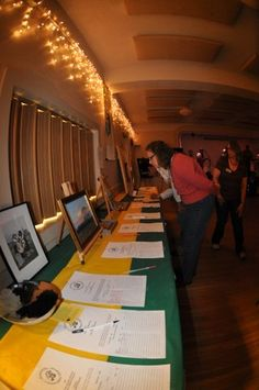 Silent Auction Items at the 2012 Badger Ball at the Alice Hardy Stevens Center in Laramie.  Stay tuned for more information about this years special anniversary Badger Ball in September!