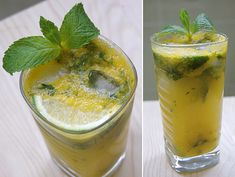 Pureed Mango Mojitos - Making these for the beach vacation!