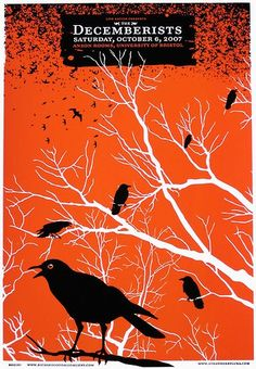 """Decemberists posters with birds always make me think of Stephen King's """"The Dark Half"""""""