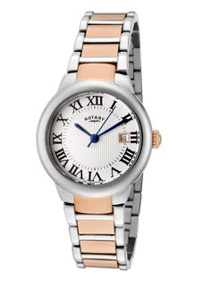 Womens Savanna Two Tone Watch by ROTARY at Gilt