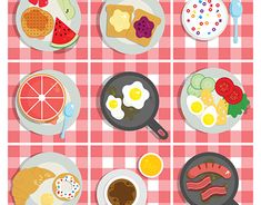 """Check out new work on my @Behance portfolio: """"Breakfast icons/illustrations"""" http://be.net/gallery/59547945/Breakfast-iconsillustrations"""