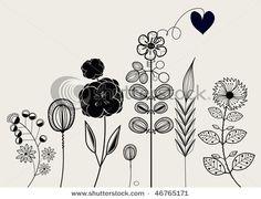line art florals