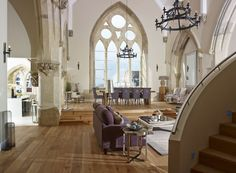 Stunning chapel conversion in England.  Would love to live here.