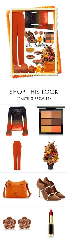 """""""Gather 'Round: Friendsgiving"""" by nefertiti1373 ❤ liked on Polyvore featuring Peter Pilotto, MAC Cosmetics, Finders Keepers, Improvements, Dooney & Bourke, Malone Souliers, Allurez and L'Oréal Paris"""
