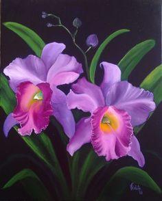 orquídeas al oleo - Buscar con Google