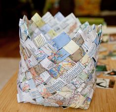 Basket Weaving with Old Maps