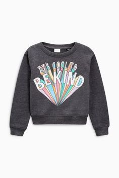 Charcoal Cool To Be Kind Slogan Sweater (3-16yrs)