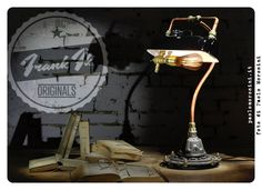 """""""British Steam"""" - hand made Vintage Industrial table lamp"""