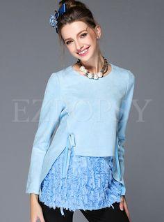 O-Neck Long Sleeve Aline T-Shirt | Ezpopsy.com